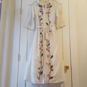 Anthropologie Samant Chauhan Dress Embroidered